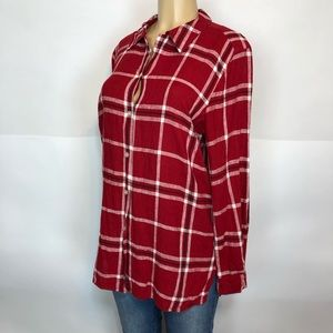 Coldwater Creek pearl button tunic shirt size L